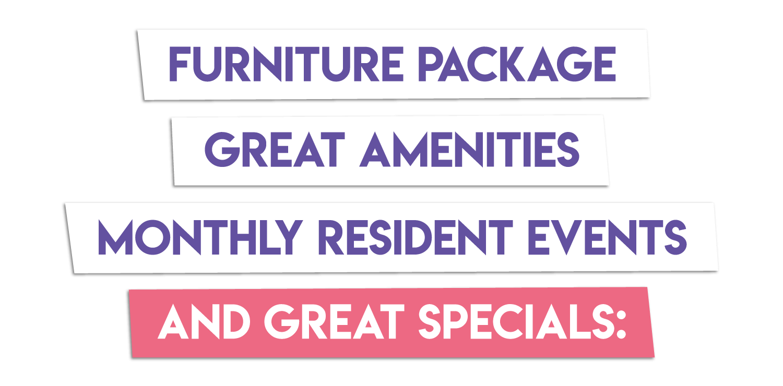 Summer special amenities